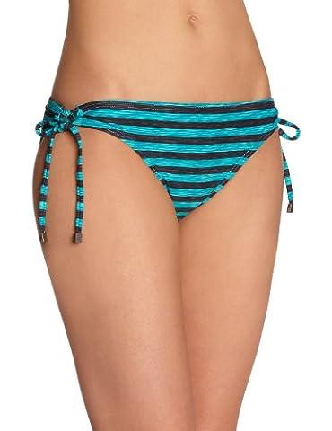 Oakley - 3D Stripe Reversible - Slip de bain - Bikini - Femme - Bleu (Cyber Blue) - FR: M(Taille fabricant: S)
