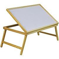 Aidapt - Bandeja para cama (madera, plegable y ajustable)