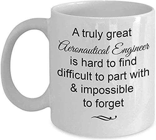 Taza de café, regalos de ingeniero aeronáutico: realmente genial e imposible olvidar la taza de té de cerámica blanca, adiós, despedidas, ideas para regalos de jubilación, 11 oz