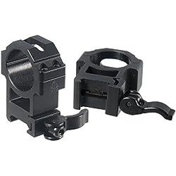UTG RQ2W3224 Colliers de Montage pour Optique Mixte Adulte, Noir Mat