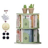 LXYStands Storage 360° Rotation DIY Children Green Bookcase Floor-to-ceiling Kids Storage Shelf Space-saving Book Rack Multifunction Bookshelf Organizer 49 x 49 x 65 cm Cabinets
