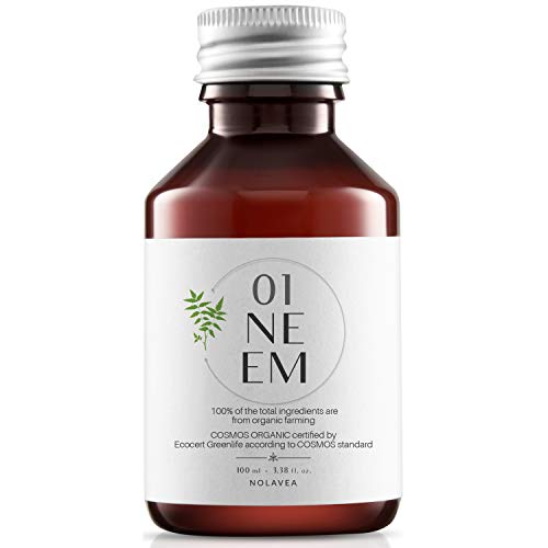 Aceite de Neem 100% Vegetal - 100ml - Aceite Ecologico Prensado en Frio y Virgen - Primera Presión - Tratamiento Pelo, Piel, jardin, anti-piojos anti-garrapatas - Regula, Hidrata, Alimenta y Suaviza