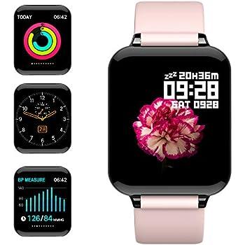 Smartwatch, 5ATM Impermeable Reloj Inteligente Hombre Mujer, Pulsera Actividad Inteligente Reloj Deportivo Reloj Fitness con Pantalla Táctil Completa ...