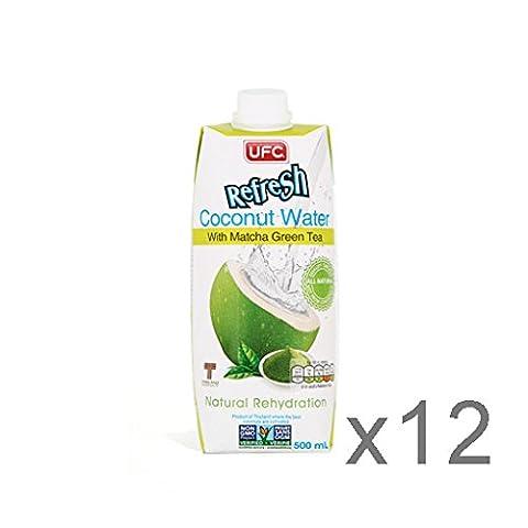 UFC Refresh 100% Coconut Water 500ml x12 - Matcha Green Tea
