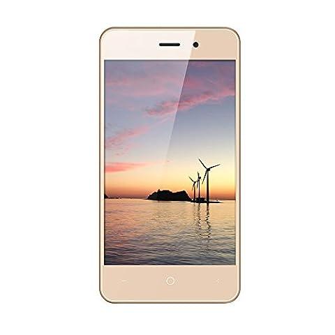 """Leagoo Z1c Smartphone - 4,0"""" Débloqué 3G Téléphone Intelligent, Android 6.0 Quad Core 512Mo + 8Go, Dual SIM, Mode économie D"""