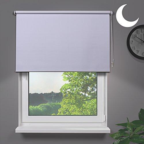 Fensterdecor Fertig Verdunkelungsrollo / Weiß 180 x 180 cm (BxH)