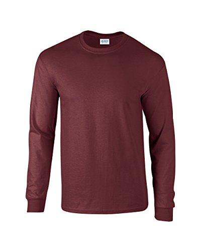 Gildan Ultra Cotton, T-Shirt mit langen Ärmeln Gr. X-Large, kastanienbraun (Erwachsene Ultra Cotton T-shirt)
