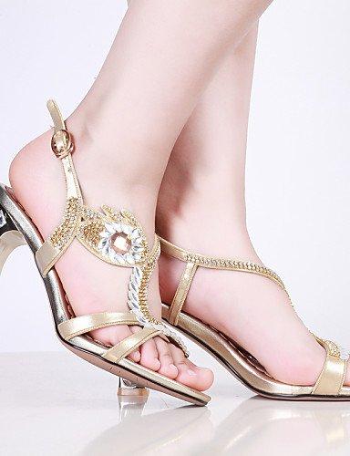 UWSZZ IL Sandali eleganti comfort Scarpe Donna-Sandali / Scarpe col tacco-Formale / Casual / Serata e festa-Tacchi / Spuntate-Quadrato-Finta pelle-Viola / Argento / Dorato Purple