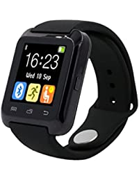Fashion relojes Bluetooth Smart Android Digital reloj inteligente Wearable dispositivos negro