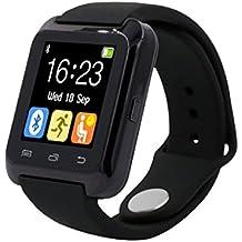 Fashion relojes Bluetooth Smart Android Digital reloj inteligente Wearable dispositivos negro