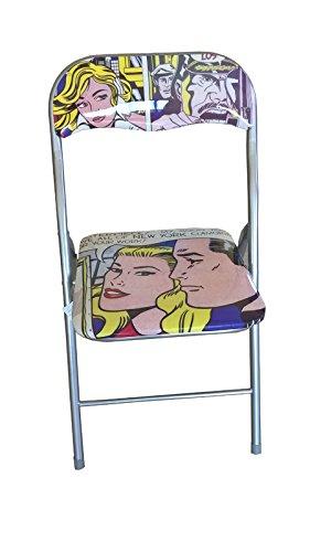 Sedia Pieghevole Slim Imbottita con Stampa Fotografica Fumetto ...