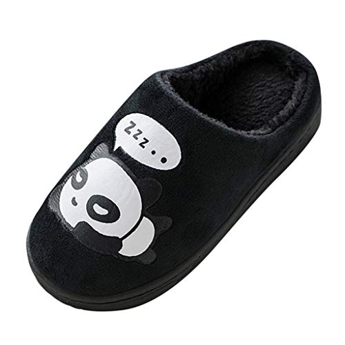 99AMZ Boys Girls Cozy Winter Warm Home Slippers Cartoon Panda Non-Slip Faux Plush Fleece Lining Ultra Comfortable Winter Warm Slipper Easy to Slip-on Indoor Shoes
