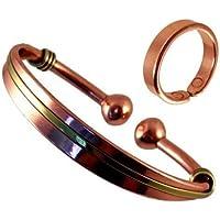 Unisex Magnetischer Kupfer & Messing Drehmoment Armband und glatte oberfläche magnet kupfer ring Kombi Geschenkset... preisvergleich bei billige-tabletten.eu