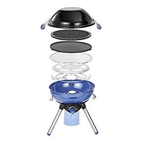 Campingaz Party Grill 400 CV Camping Stove, All in One Portable BBQ, Grill & Stove, Small Gas Barbecue, Tabletop Outdoor Grill, for Caravan and Balcony