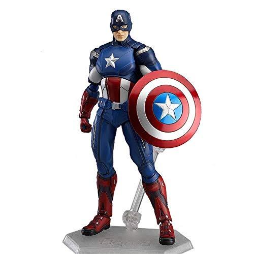 Captain Machen America Kostüm Ein Sie - Avengers Action Figure Spielzeug Modell Action Captain America Kostüm Set Dekoration Souvenir Sammlerstücke Handwerk Avengers Handmade Modell Größe ist 14 cm XIKJUK
