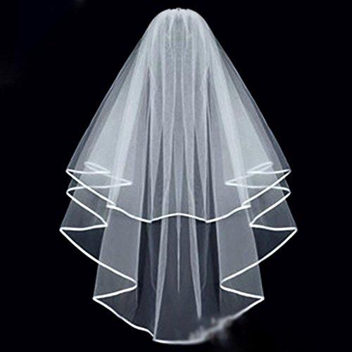 HuntGold Braut-Schleier mit Kamm (weiß), (Schöne Braut Kostüme Kind)