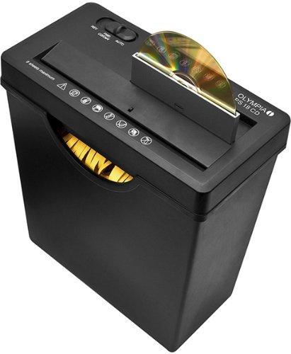 Olympia PS 18 CD Aktenvernichter (mit Papierkorb, Streifenschnitt fuer 5 Blatt 80g/m², 2 Auffangbehälter, Papier-Schredder für CD und Kreditkarte, Papiervernichter für Büro mit automatischem Einzug)