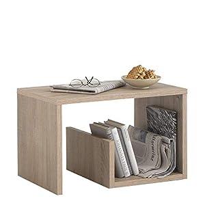 FMD Möbel 632-001 Mike Beistelltisch, Holz, sandeiche, 59 x 36 x 38 cm