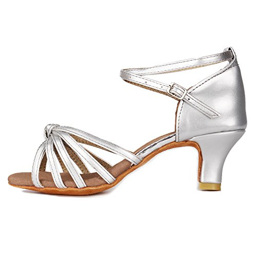 YKXLM Mujeres&Niña Zapatos Latinos de Baile Zapatillas de Baile de Salón Salsa Performance Calzado...