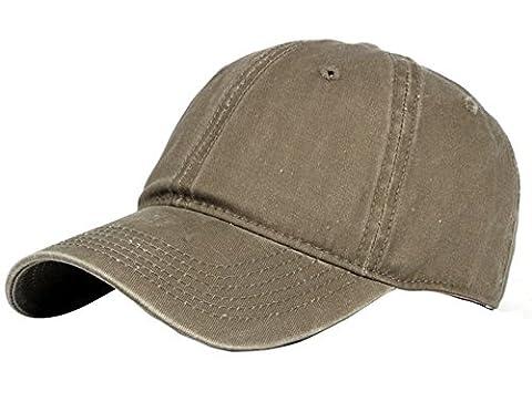 Vi.yo Baseball Cap Sport Freizeit Hut Vintage Gewaschen Gefärbter Baumwolle S unauffällig mit Baseball mütze Unisex (Khaki)