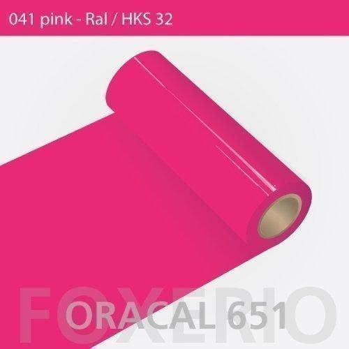 ORAFOL Oracal 651-31cm Rolle - 5m - Pink/glanz, A42oracal - 651-5m - 31cm - 11 - kl - Autofolie/Möbelfolie/Küchenfolie