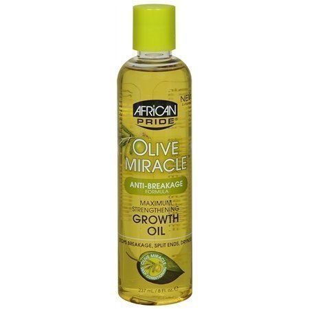African Pride Olive Miracle Huile de croissance anti-casse (lot de 3) par African Pride Olive Miracle Croissance anti-casse à l'huile