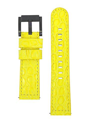 TW Steel Marc Coblen Armband Uhrenband Uhrenarmband Leder 22 MM Kroko Gelb LB_Y_K_B