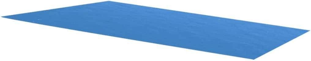Being lightweight Galapara Frame Swimming Pool installing and handling easy Rectangular Solar Pool Cover 300 x 200 cm PE Blue