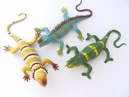 Eidechsen 3erSet 34cm Stretch Stretcheidechsen Echsen Chamäleon Eidechse Spielzeug