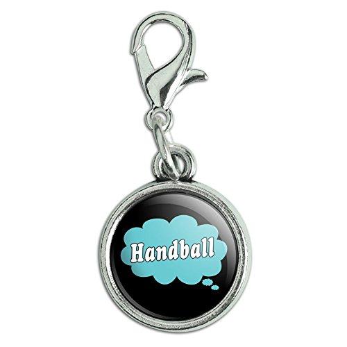 Antik Armband Anhänger Charm Zipper Pull Anhänger mit Karabinerverschluss Dreaming of f-p Handball Blue