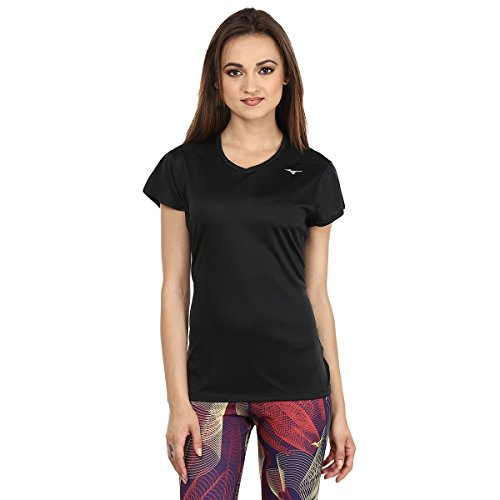 Mizuno Core T-Shirt Femme Noir