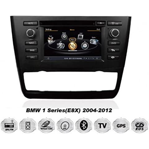 REALMEDIA BMW 1 Series E81 E82 E87 E88 OEM Einbau Touchscreen Autoradio DVD Player MP3 MPE4 USB SD 3D Navigation GPS TV iPod USB MPEG2 Bluetooth Freisprecheinrichtung +++mit REALMEDIASHOP