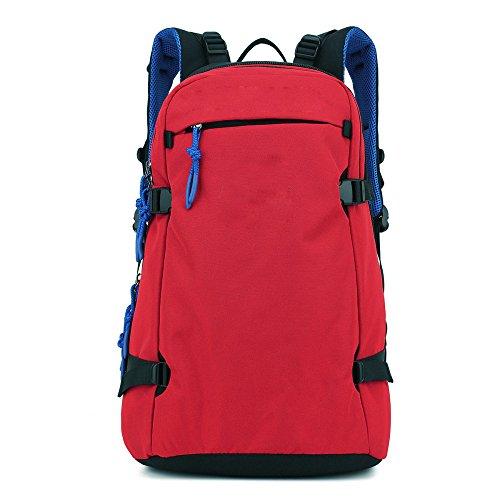 MENUDOWN Rucksack-Einfache Geschäfts-Rucksack-Mann-im Freiengeschäfts-Reise-mehrstöckige Trennungs-Taschen-Reise-Taschen Mehrfarben,Red-OneSize