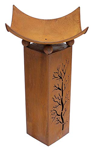Design-Feuerschale mit Dekosäule - 4