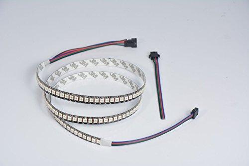 1m APA102144ledes por metro rayas negro IP20–Similar a Chip WS2801)