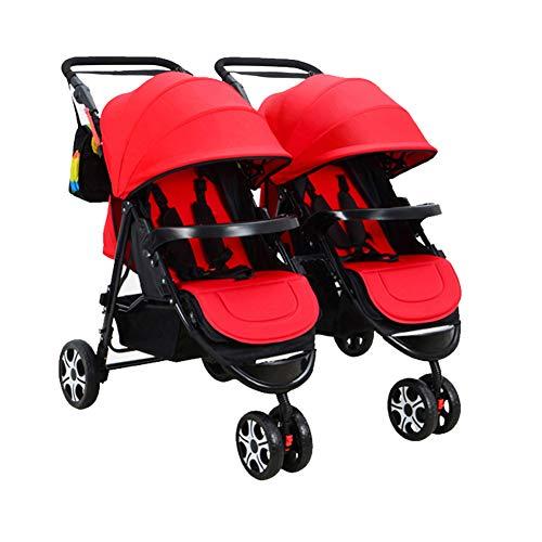 YANGSANJIN Zwillings- und Geschwisterwagen Kinderwagen Sonnenschirm Side