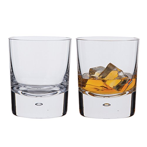 Double Old Fashioned Gläser (Dartington Exmoor-Double Old Fashioned Tumbler, transparent, 2 Stück)