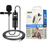 BOYA BY-M1 3.5 mm Lavalier Microphone for Smartphone and Canon/Nikon Camera - Black