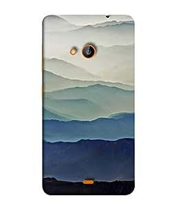 PrintVisa Designer Back Case Cover for Microsoft Lumia 535 :: Microsoft Lumia 535 Dual SIM :: Nokia Lumia 535 (blue suits your personality gray compliments)