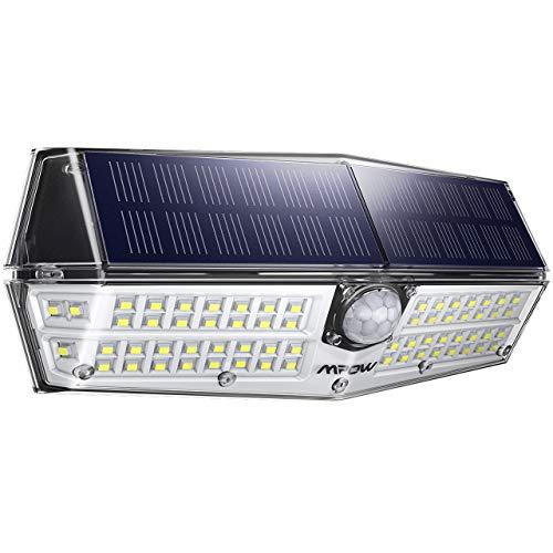 Mpow Luz Solar de Exterior 66LED, Lámpara Solar IP66 Impermeable con 3 Modos de Iluminación, 270° de Iluminación con 120° Sensor de Movimiento para Pared, Jardín, Garaje, Camino, 1 Pieza