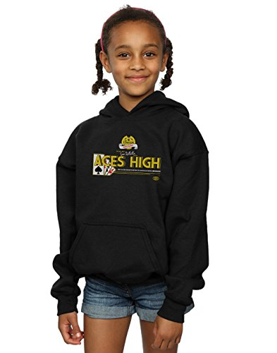 Absolute Cult Alex Chenery Mädchen Ace's High Kapuzenpullover Schwarz 5-6 Years - Aces High Tee