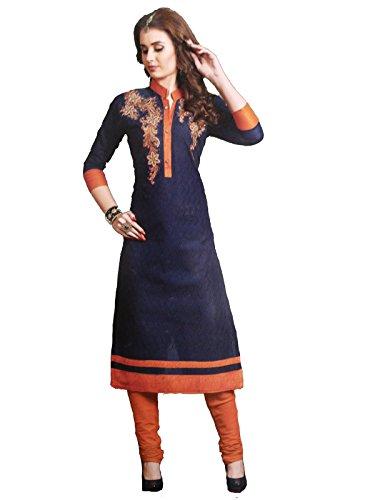 Shree Ganesh Retail Womens Chikankari Embroidery Churidar Material   Salwar Suit  ...
