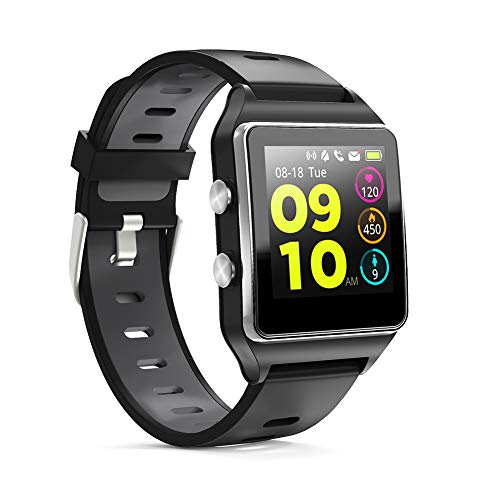 【Neuest 2019】 Smartwatch, Fitness Tracker 1,3 Zoll Touchscreen mit Herzfrequenzmesser und Schlafmonito, Fitness Armbanduhr GPS Sport Uhr IP68 wasserdichte Schrittzähler-Uhr für Android und iOS