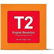 T2 Tea English Breakfast Loose Leaf Black Tea in Gift Cube, 100 g