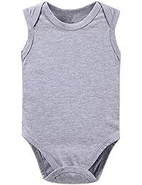 JIAJIA - Body - Sin mangas - para bebé niña