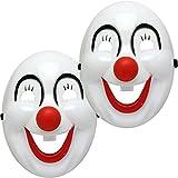 Oramics Masque Déguisement Halloween Batman et Clown, Masque d'Horreur avec Ficelle Élastique, Pour Fille et Garcon (x2, Clown)