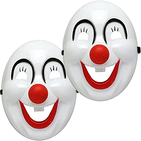 Oramics Masque Déguisement Halloween Batman et Clown, Masque d'Horreur avec Ficelle Élastique, Pour Fille et Garcon (x2,
