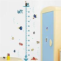 Finding Nemo Wall Sticker Height Scale Measure Sticker for Baby Room/Kid Room/Nursery Cartoon Animal Wall Art