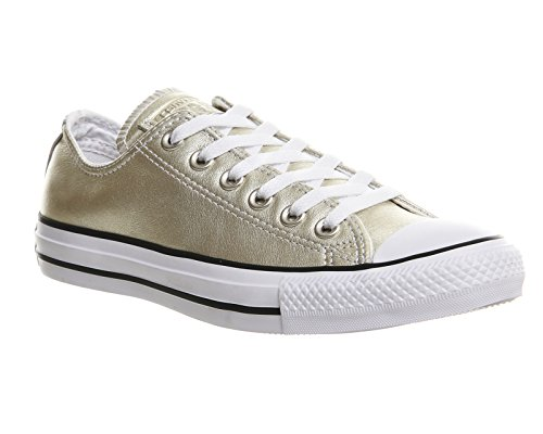 Converse Chuck Taylor Core Lea Ox 246270-55-3, Sneaker Donna New Gold Exclusive