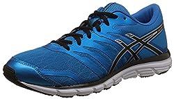 Asics Mens Gel-Zaraca 4 Methyl Blue, Black and Silver Running Shoes - 8 UK/India (42.5 EU) (9 US)